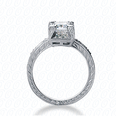 14KW Fancy Cut Diamond Unique Engagement Ring 0.21 CT. Engagement Rings Style