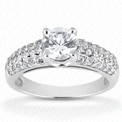 14KW Fancy Cut Diamond Unique Engagement Ring 0.38 CT. Engagement Rings Style