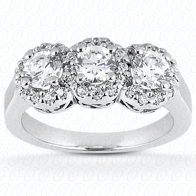 14KP Fancy Cut Diamond Unique <br>Engagement Ring 0.32 CT. Engagement Rings Style