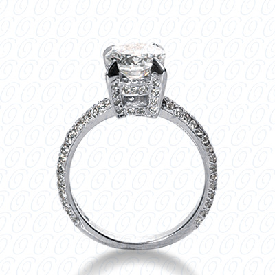 14KP Fancy Cut Diamond Unique <br>Engagement Ring 0.76 CT. Engagement Rings Style