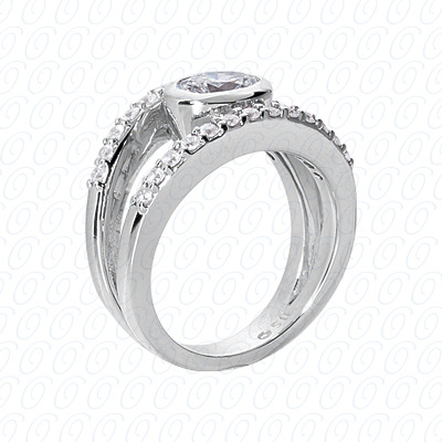 14KP Fancy Rings Cut Diamond Unique <br>Engagement Ring 1.02 CT. Fancy Rings Style