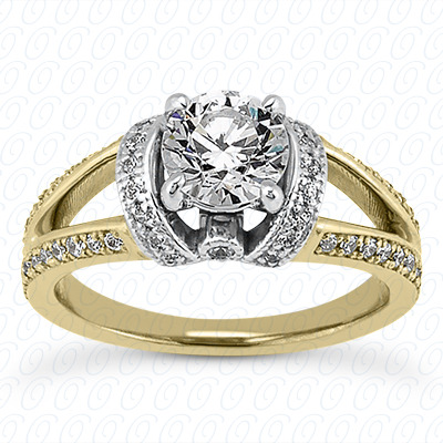 14KP Antique Cut Diamond Unique <br>Engagement Ring 0.43 CT. Engagement Sets Style
