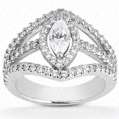 14KP Marquise 0.70 CT. Halo