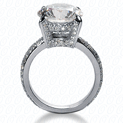 14KP Fancy Cut Diamond Unique <br>Engagement Ring 0.84 CT. Engagement Rings Style