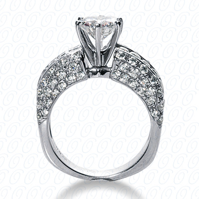 14KW Fancy Cut Diamond Unique Engagement Ring 2.12 CT. Engagement Rings Style