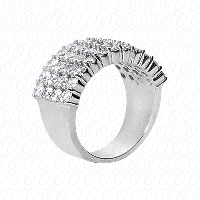 14KP Fancy Rings Cut Diamond Unique <br>Engagement Ring 2.48 CT. Fancy Rings Style
