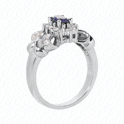 14KP Fancy Rings Cut Diamond Unique <br>Engagement Ring 0.36 CT. Fancy Rings Style