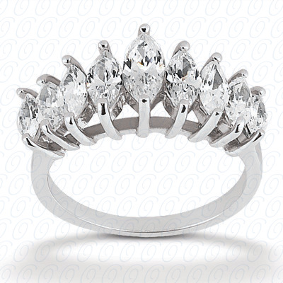 14KP Marquise Cut Diamond Unique <br>Engagement Ring 1.47 CT. Wedding Bands Style