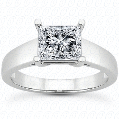 PLAT Princess Cut Diamond Unique Engagement Ring
