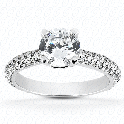 14KP Fancy Cut Diamond Unique <br>Engagement Ring 0.57 CT. Engagement Rings Style