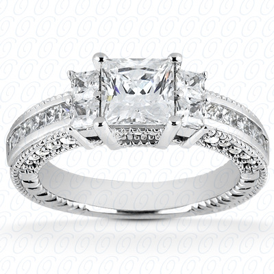 14KP Fancy Cut Diamond Unique <br>Engagement Ring 0.46 CT. Engagement Rings Style