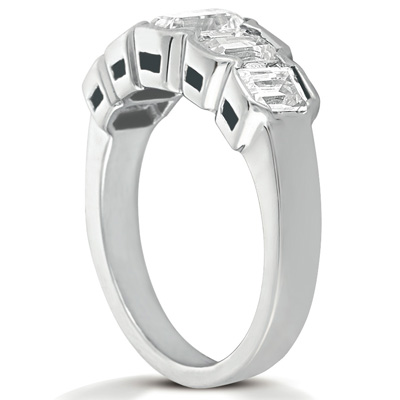 14KP Emerald Cut Diamond Unique <br>Engagement Ring 1.16 CT. Wedding Bands Style