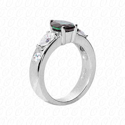 14KP Fancy Rings Cut Diamond Unique <br>Engagement Ring 1.00 CT. Fancy Rings Style