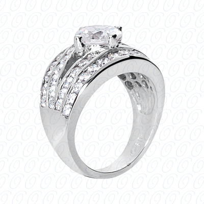14KP Fancy Rings Cut Diamond Unique <br>Engagement Ring 1.75 CT. Fancy Rings Style