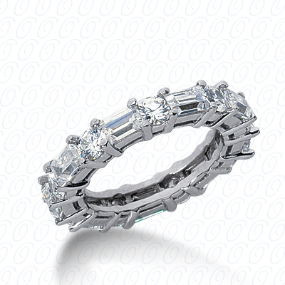 14KW Combinations Cut Diamond Unique Engagement Ring 3.84 CT. Eternity Wedding Bands Style