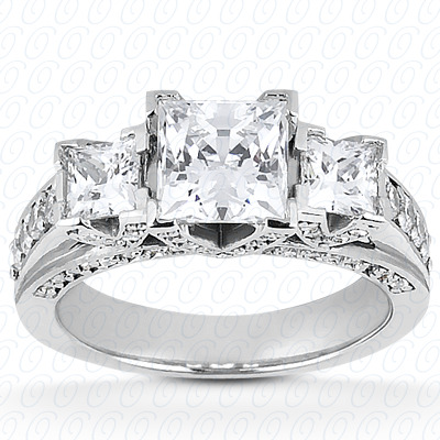14KW Fancy Cut Diamond Unique Engagement Ring 0.79 CT. Engagement Rings Style