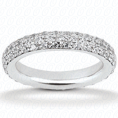 14KP  Round Cut Diamond Unique <br>Engagement Ring 0.99 CT. Eternity Wedding Bands Style