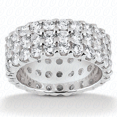 14KP  Round Cut Diamond Unique <br>Engagement Ring 5.70 CT. Eternity Wedding Bands Style