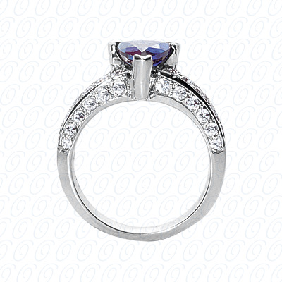 14KP Fancy Rings Cut Diamond Unique <br>Engagement Ring 0.71 CT. Fancy Rings Style