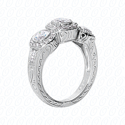 14KP Fancy Rings Cut Diamond Unique <br>Engagement Ring 1.09 CT. Fancy Rings Style