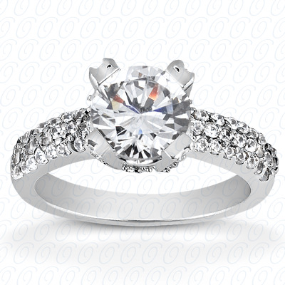 14KP Fancy Cut Diamond Unique <br>Engagement Ring 0.45 CT. Engagement Rings Style