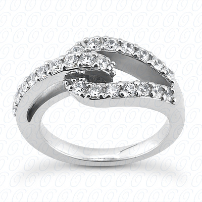 14KP Fancy Rings Cut Diamond Unique <br>Engagement Ring 0.56 CT. Fancy Rings Style