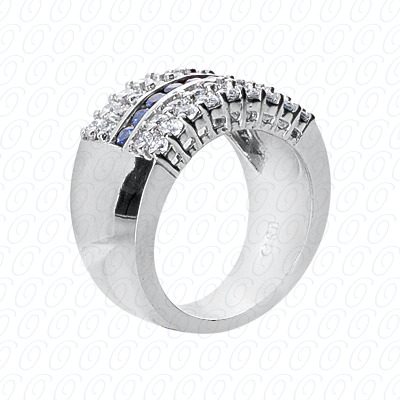14KP Fancy Rings Cut Diamond Unique <br>Engagement Ring 1.35 CT. Fancy Rings Style
