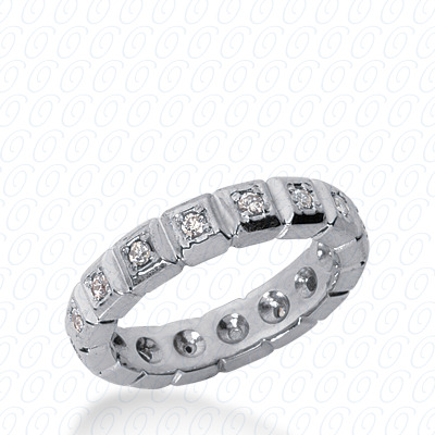 14KP  Round Cut Diamond Unique <br>Engagement Ring 0.30 CT. Eternity Wedding Bands Style
