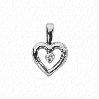 14KW Hearts Cut Diamond Unique Engagement Ring 0.46 CT. Pendants Style