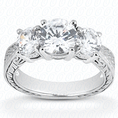 18KT Antique Cut Diamond Unique Engagement Ring