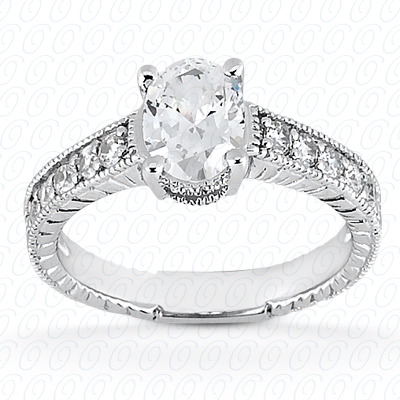 14KP Antique Cut Diamond Unique <br>Engagement Ring 0.15 CT. Engagement Rings Style