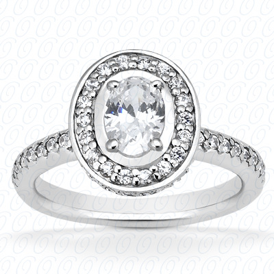 14KP Oval 0.83 CT. Halo