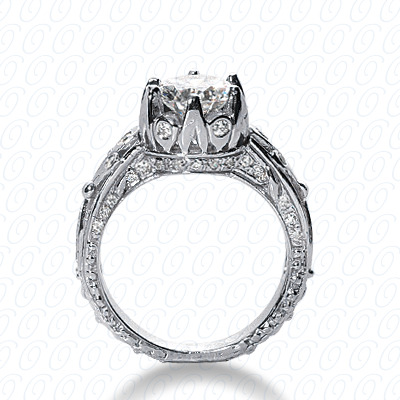 14KP Antique Cut Diamond Unique <br>Engagement Ring 0.49 CT. Engagement Rings Style