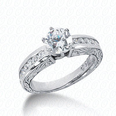 14KP Antique Cut Diamond Unique <br>Engagement Ring 0.42 CT. Engagement Rings Style
