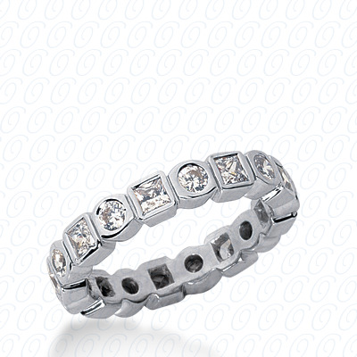 PLAT Combinations 1.28 CT. Eternity Wedding Bands