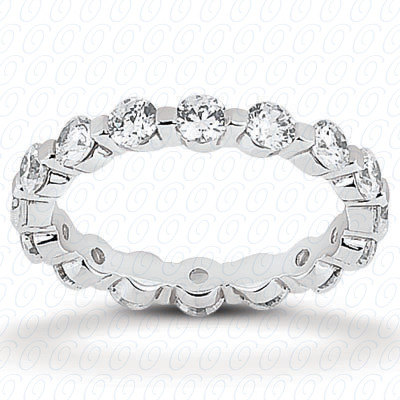 14KW  Round Cut Diamond Unique Engagement Ring 1.50 CT. Eternity Wedding Bands Style