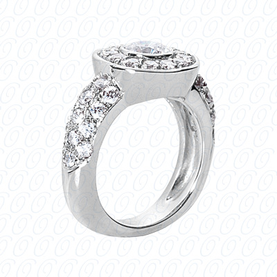 14KP Fancy Rings Cut Diamond Unique <br>Engagement Ring 1.30 CT. Fancy Rings Style