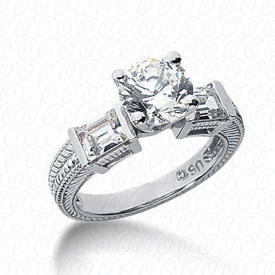 14KP Antique Cut Diamond Unique <br>Engagement Ring 1.14 CT. Engagement Rings Style