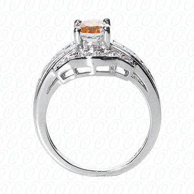 14KP Fancy Rings Cut Diamond Unique <br>Engagement Ring 0.60 CT. Fancy Rings Style