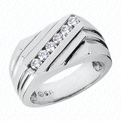 14KP Fancy Styles Cut Diamond Unique Engagement Ring 0.48 CT. Mens Rings Style