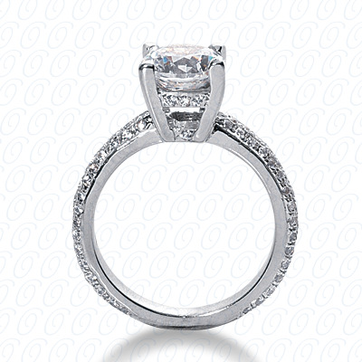 14KP Fancy Cut Diamond Unique <br>Engagement Ring 0.79 CT. Engagement Rings Style