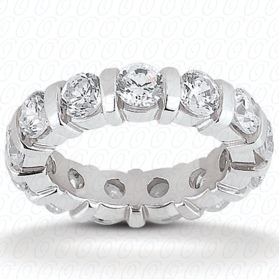 14KP  Round Cut Diamond Unique Engagement Ring 0.92 CT. Eternity Wedding Bands Style