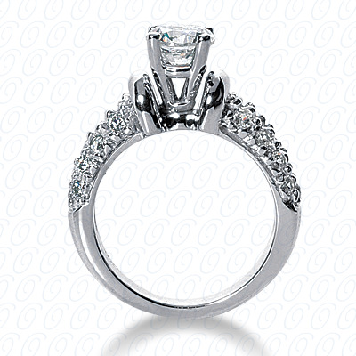 14KP Fancy Cut Diamond Unique <br>Engagement Ring 0.86 CT. Engagement Rings Style