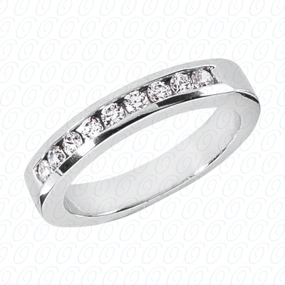 14KP Wedding Bands 0.55 CT. Mens Rings