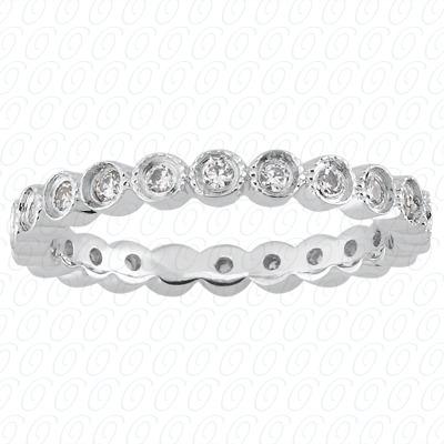 PLAT  Round 0.32 CT. Eternity Wedding Bands