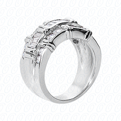 14KP Fancy Rings Cut Diamond Unique <br>Engagement Ring 1.42 CT. Fancy Rings Style