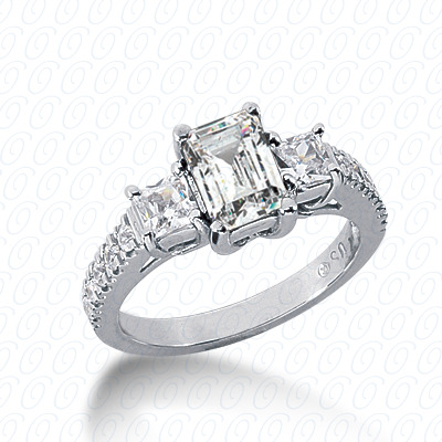 14KW Antique Cut Diamond Unique Engagement Ring 0.74 CT. Engagement Rings Style