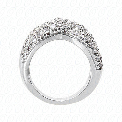 14KP Fancy Rings Cut Diamond Unique <br>Engagement Ring 1.90 CT. Fancy Rings Style