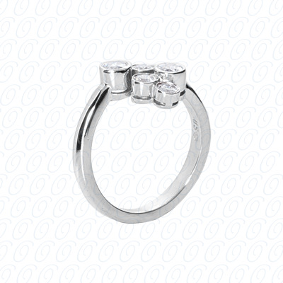 14KW Right Hand Rings Cut Diamond Unique Engagement Ring 0.52 CT. Fancy Rings Style