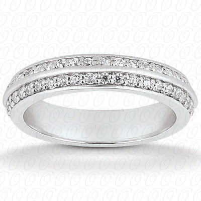 14KP  Round Cut Diamond Unique <br>Engagement Ring 0.42 CT. Eternity Wedding Bands Style